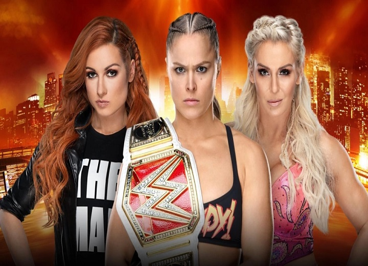 Becky Lynch Vs Ronda Rousey Vs Charlotte Flair