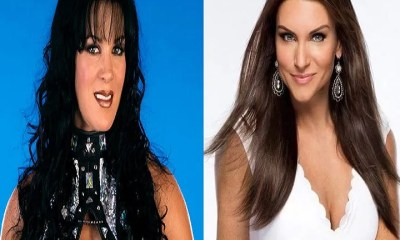 Chyna and Stephanie McMahon