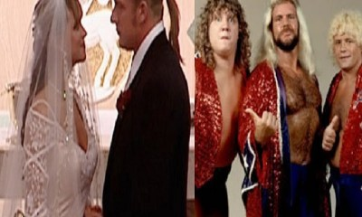 Stephanie McMahon and Triple H and the Fabulous Freebirds