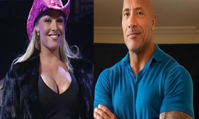 The Rock Dwayne Johnson and Trish Stratus