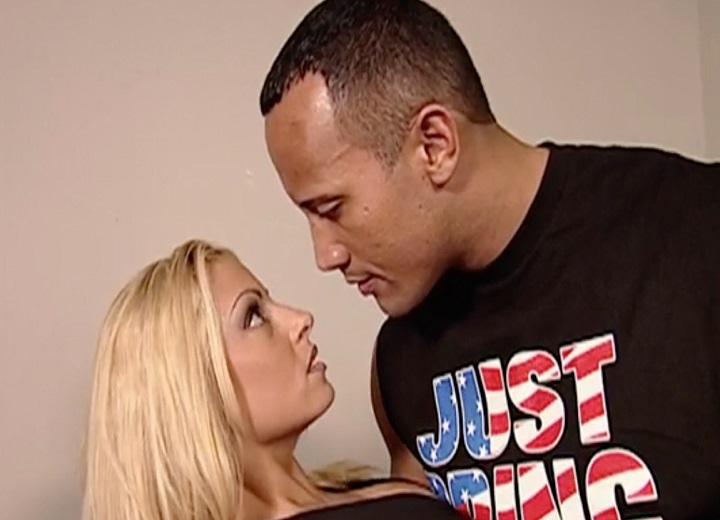 Trish Stratus Kissed The Rock