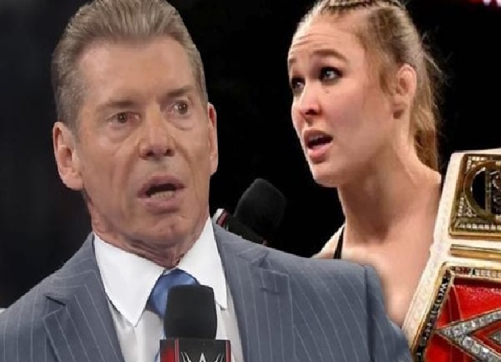 Vince McMahon and Ronda Rousey