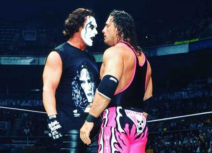 Sting and Bret Hart square off WWE