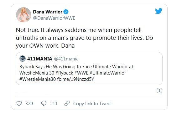 Dana Warrior replies Ryback