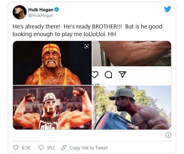 Hulk Hogan reacts to Chris Hemsworth