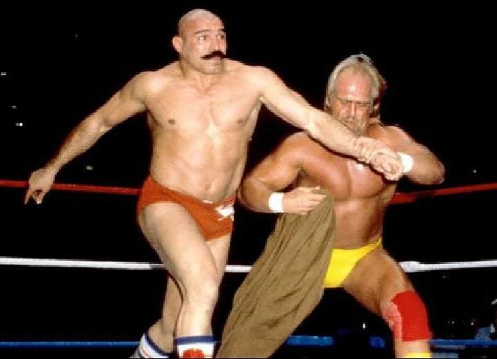 Iron Sheik and Hulk Hogan WWE