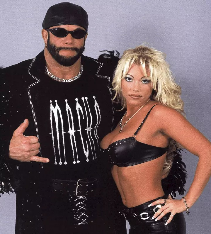 Randy Savage with Gorgeous George in WCW