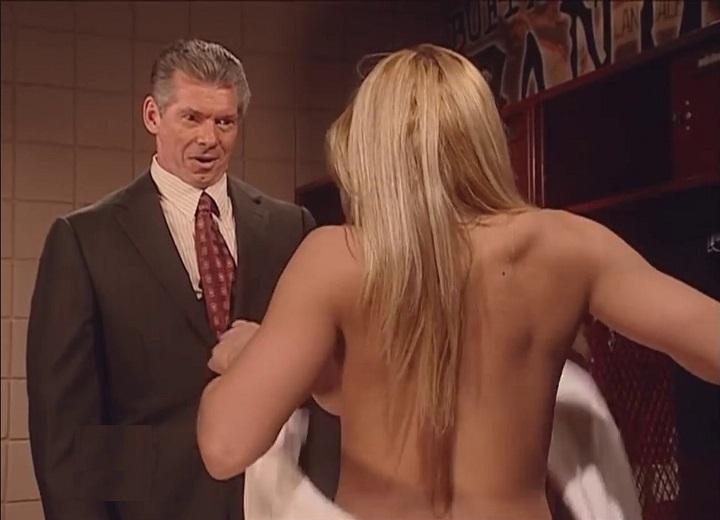 Trish Stratus and Vince McMahon