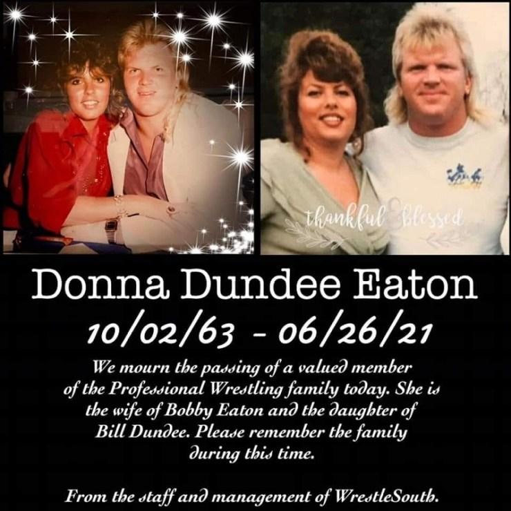 wife of old school wrestling has passed away