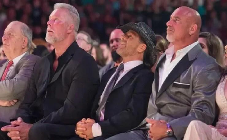 goldberg bret hart WWE hall Of fame