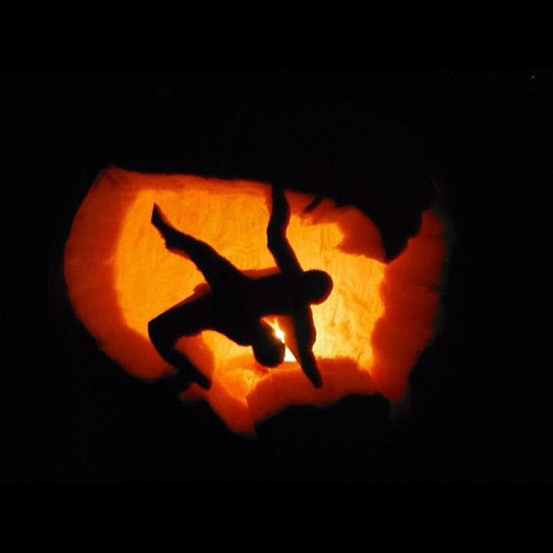 Wrestling Halloween Pumpkins