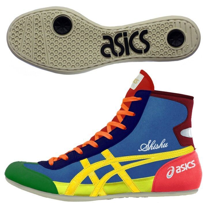 buy popular a0c4b 9861f Quite possibly the most colorful wrestling shoes ever…