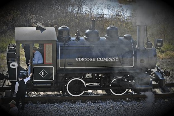 The 1924 Baldwin 0-4-0 Viscose Company No. 6 Steam Engine.
