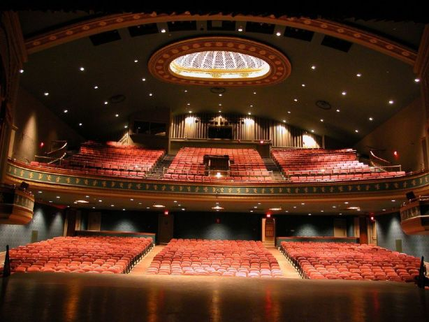 The interior of the Reg Lenna Center for the Arts.