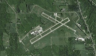 The Chautauqua County Airport, just north of Jamestown. (Image via Google)