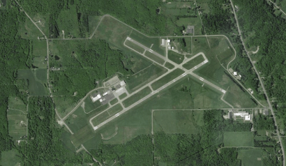 The Chautauqua County Airport, just north of Jamestown. (Image via Google)