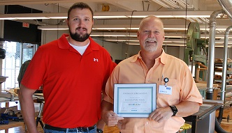 Daryl Damcott, JHS Technology teacher and Dave Currie, JPS Coordinator of Science, Technology and Information Services