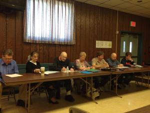The Celoron Village Board held a work session on Saturday, April 18, 2015 to discuss the future of the Lucy Statue.
