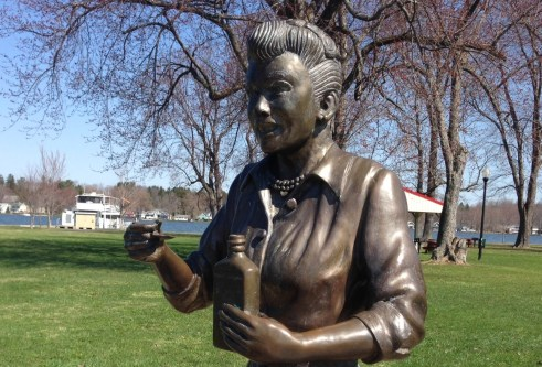 The Statue of Lucille Ball that was created by artist David Poulin and is currently located in Lucille Ball Memorial Park, Celoron, NY.