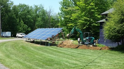 750 sq ft of solar panels were recently added to Fredonia's College Lodge.