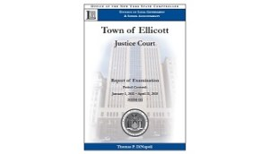 State Comptroller Releases Audit Critical of Town of Ellicott Court Oversight and Financial Control