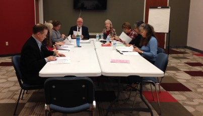 The Prendergast Library Board of Directors during its Dec. 17, 2015 meeting.