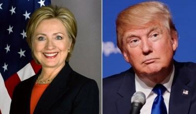 Hillary Clinton (left) and Donald Trump
