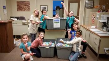Girl Scout Troop 20029 Juniors Helped Stuff 3,000 Eggs (Back row: Hannah DeAngelo, Aliceson Scott, Zaporah Sparrow. Front row: Amara Burch, Ruby Schneider, McKenna Schneider, Olivia Allen)