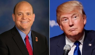 Tom Reed (left) and Donald Trump