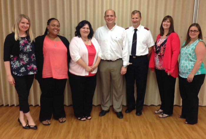 Congressman Tom Reed (Center) with representatives from the Salvation Army and its Anew Center, which provides help to victims of Sexual Abuse and Domestic Violence in the Jamestown Community.