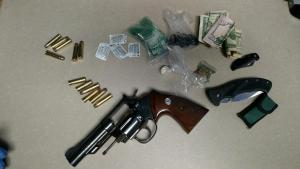 Weapon and items seized from Shots fired complaint 811 Prendergast Ave