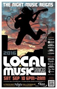 13th Annual Local Music Showcase to Benefit Infinity is Saturday Night in Downtown Jamestown