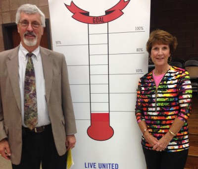 2016 United Way Campaign co-chairs Paul and Anne Hedin at the Campaign kickoff event on Wednesday, Sept. 14, 2016.