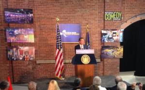 [LISTEN] Gov. Cuomo Announces $500,000 in I Love NY Funding to Promote National Comedy Center