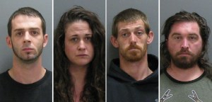 Four Arrested on Drug and Gun Charges Following Wednesday Morning Traffic Stop