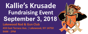 Kallie's Krusade Fundraiser is Monday, Sept. 4 at Lakewood Rod and Gun Club