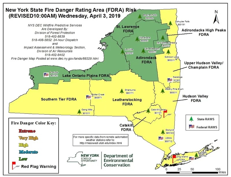 Map Of Southern New York.Chautauqua County Southern Tier Listed As High Risk Area For Fires