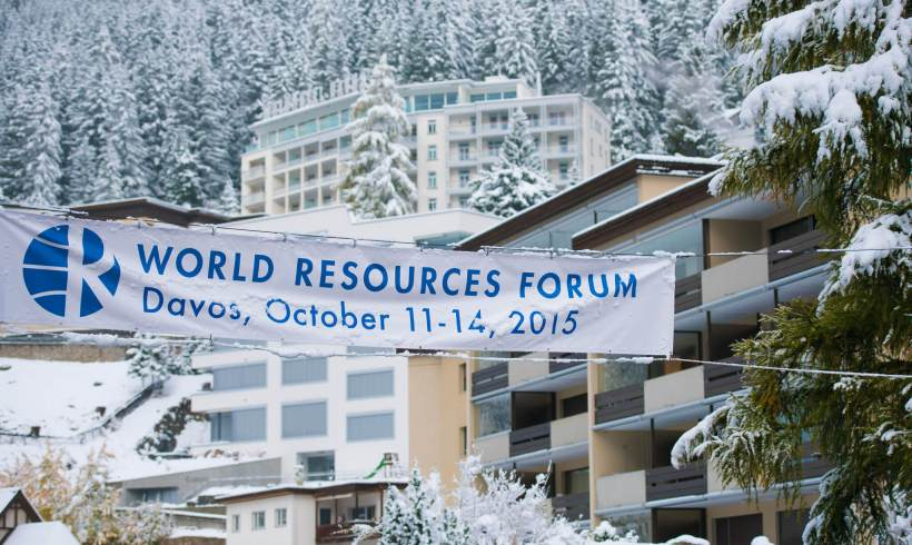 This was the World Resources Forum 2015, Davos, 11 – 14 October 2015