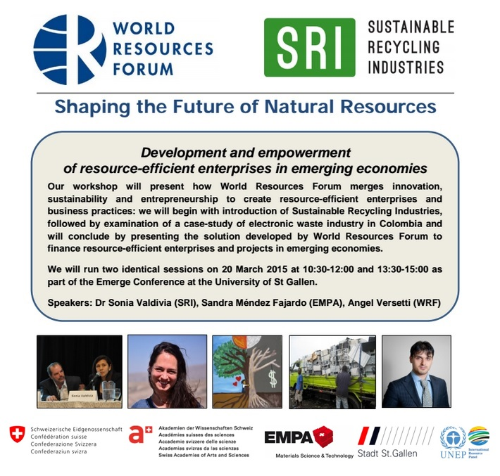 Resource Efficiency in Emerging Countries, WRF Workshop in St. Gallen
