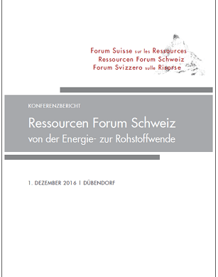 Meeting Report Swiss Resources Forum (Ressourcen Forum Schweiz) in German