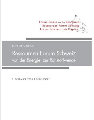 "First ""Ressourcen Forum Schweiz"" Meeting Report Published"