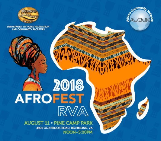 AfroFest RVA at Pine Camp Cultural Arts Center August 11th