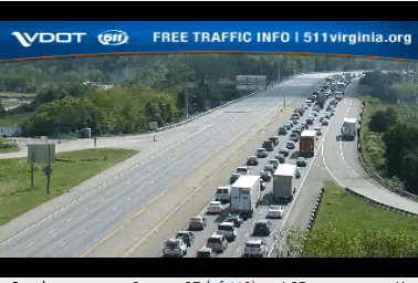 Tractor trailer accident causes 2-mile back up on I-95 North