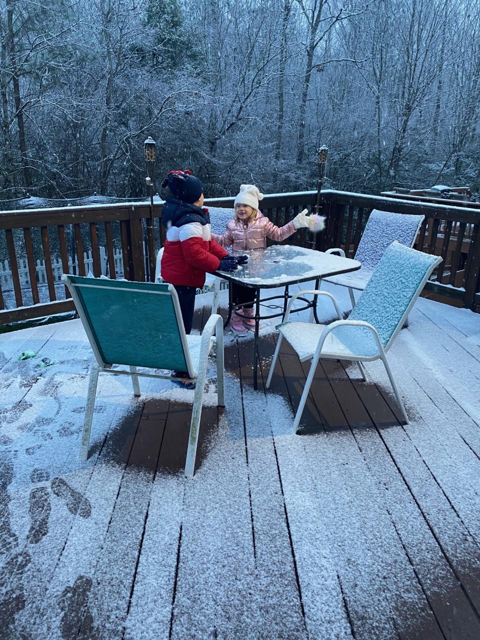 Children playing snow