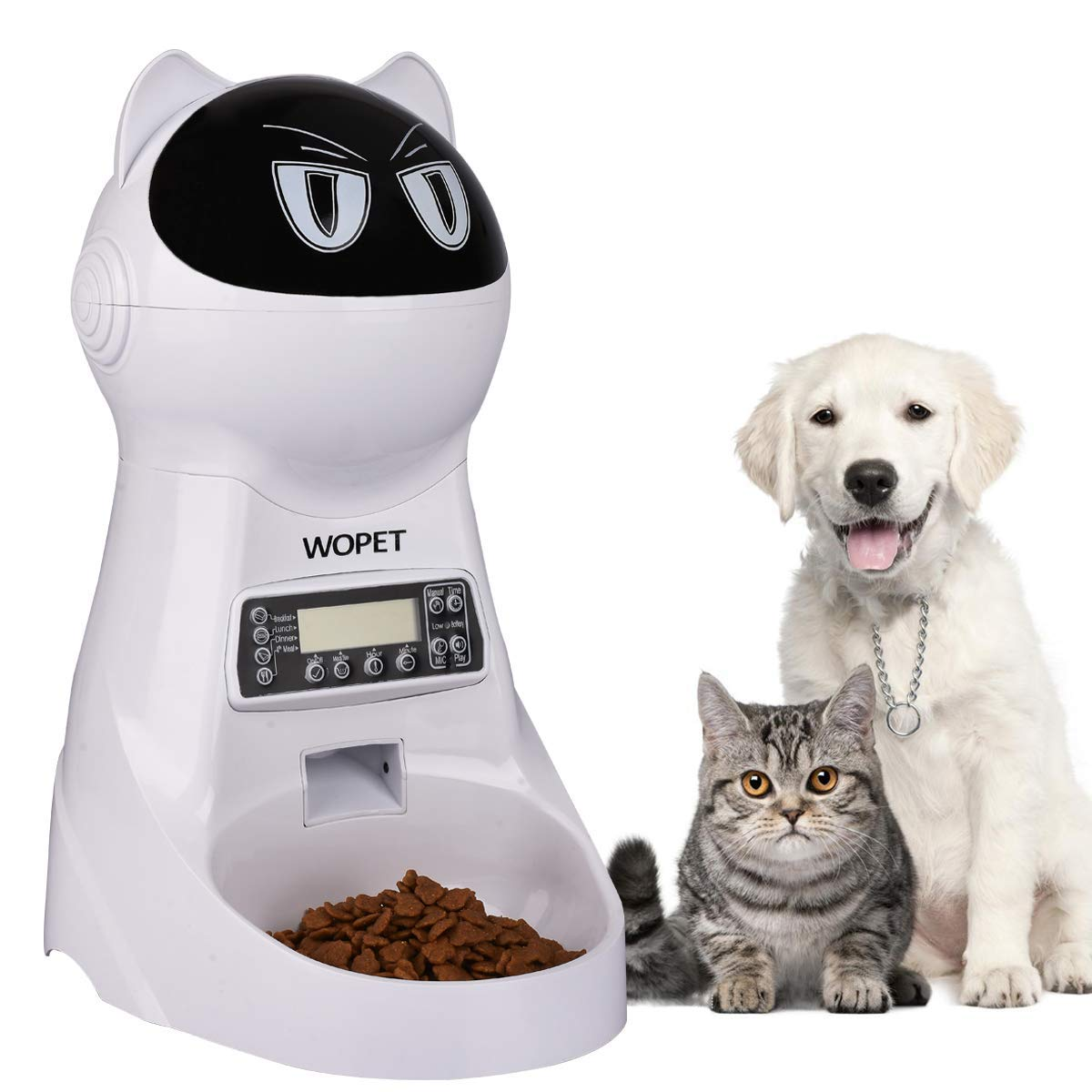 Automatic Cat Feeder Shaped Like A Mad Cat