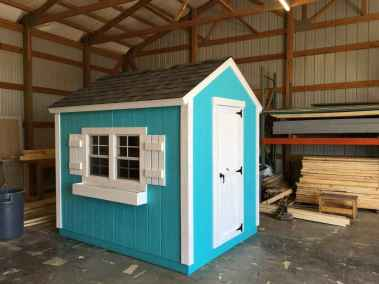 blue and white vineyard shed