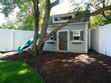 cottage shed with slide