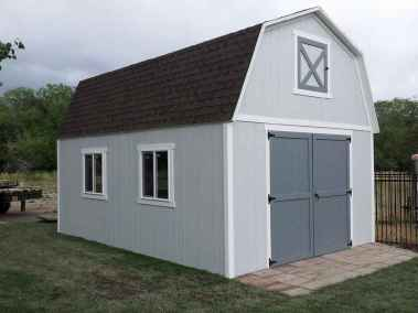 gray farm style shed