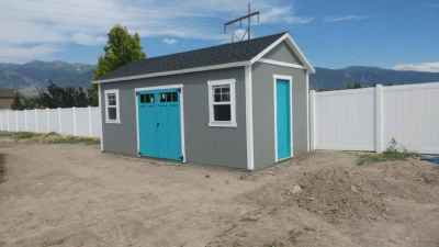orchard shed blue doors