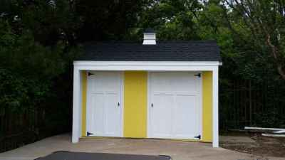 custom yellow shed